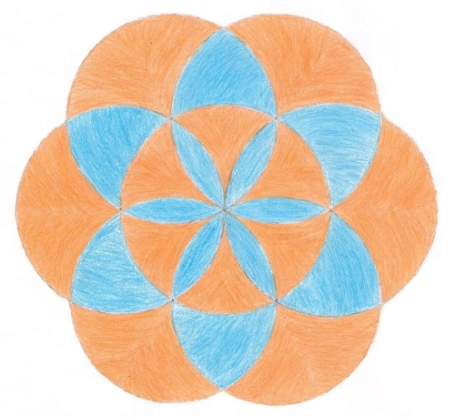 geometric design with 7 circles